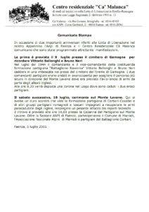 comunicato Lavane-Gamogna
