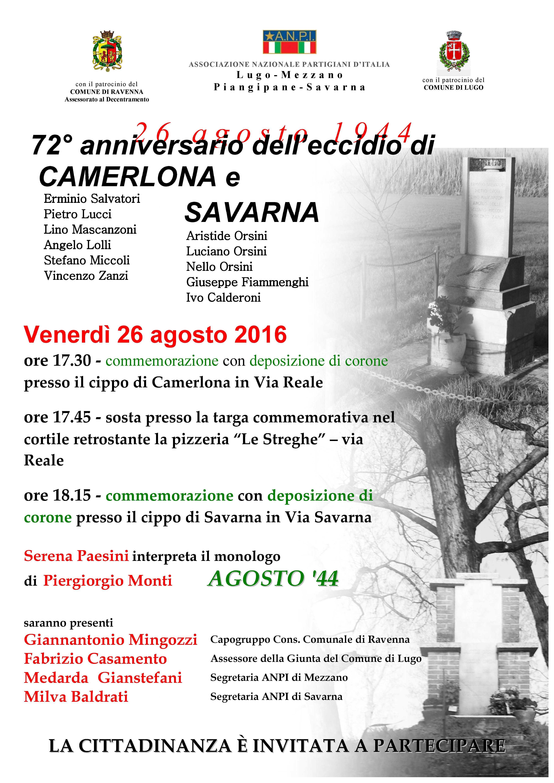 72° eccidio di Camerlona e Savarna 2016