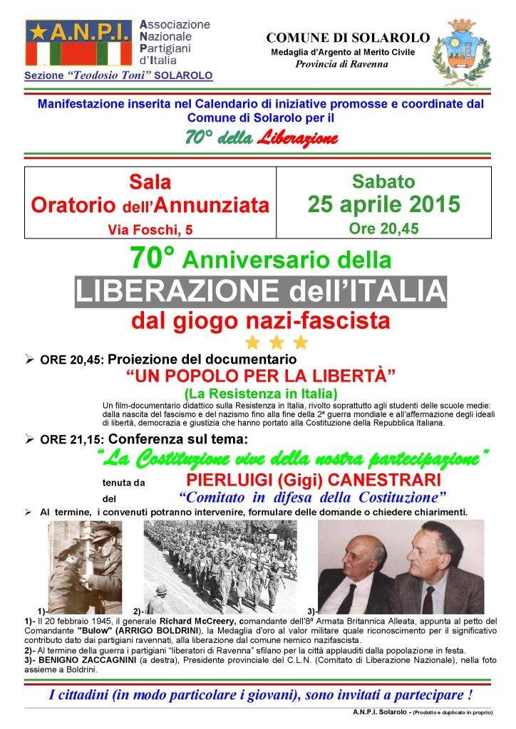 03 - Volantino 70° Liberazione dell'Italia - Solarolo 2015